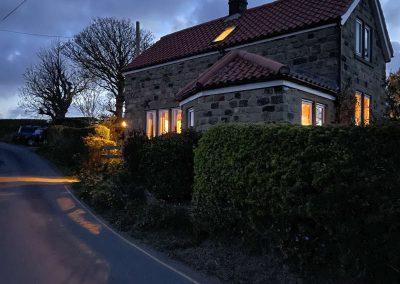 Holly Cottage at dusk