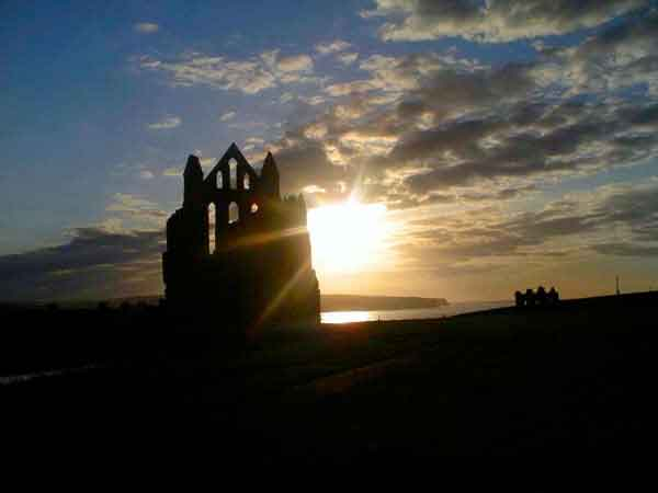 The ruins of St. Hilda's Abbey, Whitby - little wonder it was associated with Dracula